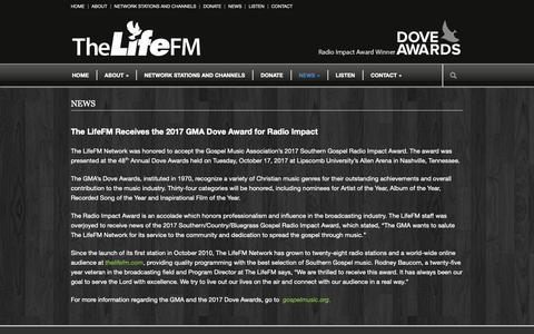 Screenshot of Press Page thelifefm.com - NEWS | The Life FM - captured Oct. 28, 2018