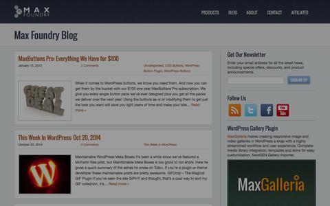 Screenshot of Blog maxfoundry.com - Bloggity Blog - Max Foundry - captured Oct. 27, 2014