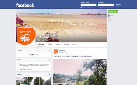 Screenshot of Facebook Page facebook.com - goMowgli - Mysore, Karnataka - Tour Company | Facebook - captured Oct. 23, 2014