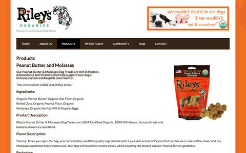 Screenshot of Products Page rileysorganics.com - Products - Riley's Organics - captured Oct. 26, 2014