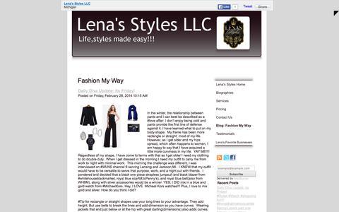 Screenshot of Blog lenasstyles.com - Fashion My Way - captured Jan. 28, 2016