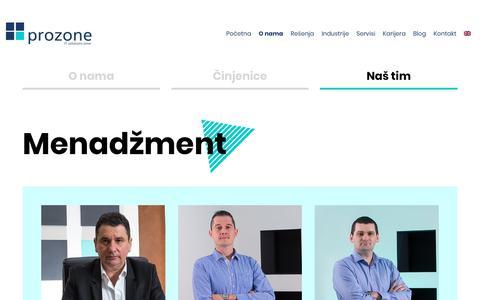 Screenshot of Team Page prozone.rs - Naš tim | Prozone - captured Nov. 5, 2018