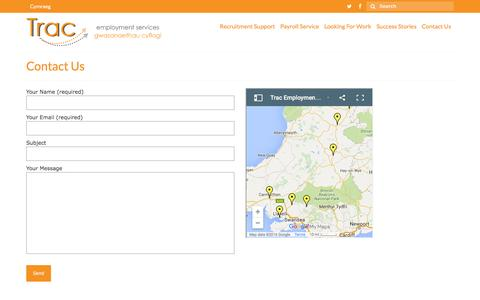 Screenshot of Contact Page tractraining.org.uk - Contact Us - Trac Training - captured Feb. 16, 2016