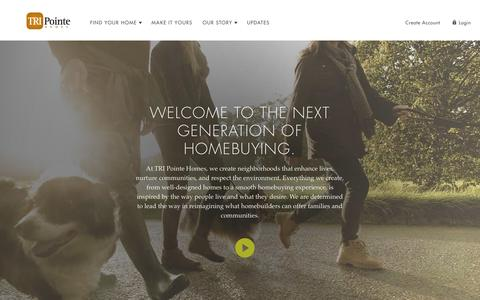Screenshot of About Page tripointehomes.com - About Us | TRI Pointe Homes - captured Feb. 15, 2016