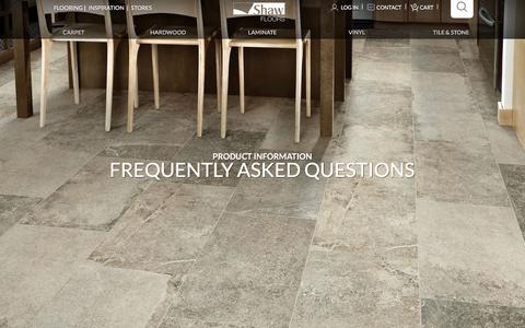 Screenshot of FAQ Page shawfloors.com - Frequently Asked Flooring Questions | Shaw Floors - captured Sept. 22, 2018