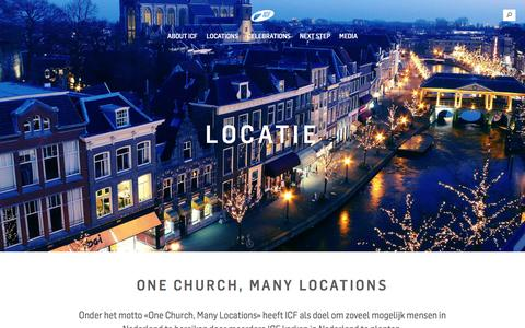 Screenshot of Locations Page icf-leiden.com - ICF Leiden -   Locatie - captured May 26, 2017