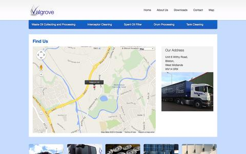 Screenshot of Maps & Directions Page valgrove.co.uk - Valgrove - captured Oct. 27, 2014