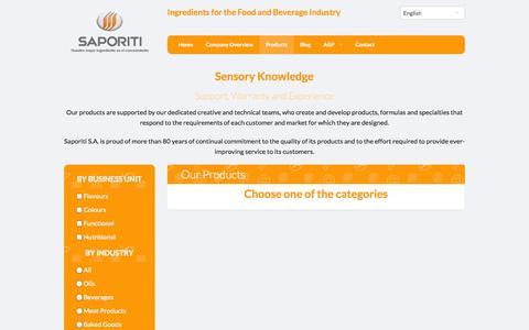 Screenshot of Products Page gruposaporiti.com - Saporiti | Productos - captured Oct. 4, 2014