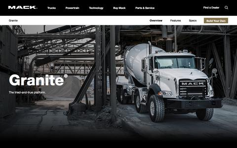 Granite Series Semi Truck Models | Mack Trucks