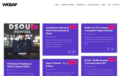 Screenshot of Blog wosap.com - Blog - captured Nov. 7, 2017