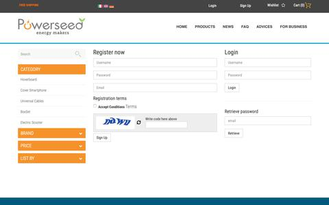 Screenshot of Signup Page powerseed.net - Registration - captured Sept. 29, 2018