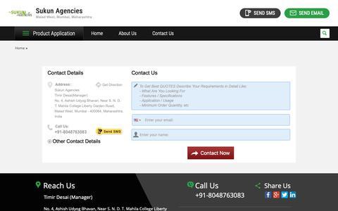 Screenshot of Contact Page highpressurepumps.in - Wholesale Trader from Mumbai - captured May 29, 2019