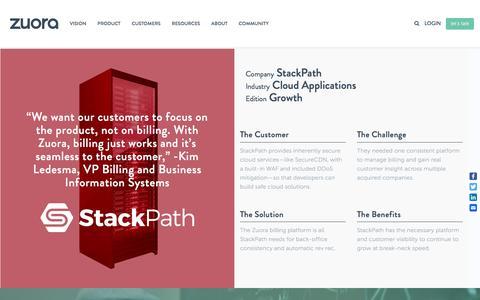 Screenshot of Case Studies Page zuora.com - StackPath Case Study - Zuora - captured Sept. 11, 2017