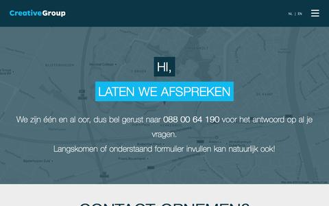 Screenshot of Contact Page cg.nl - Contact - CG - captured Sept. 21, 2016