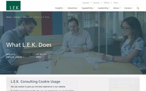 What L.E.K. Does | L.E.K. Consulting