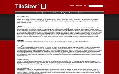 Screenshot of Terms Page tilesizer.com - Terms - captured Dec. 3, 2016