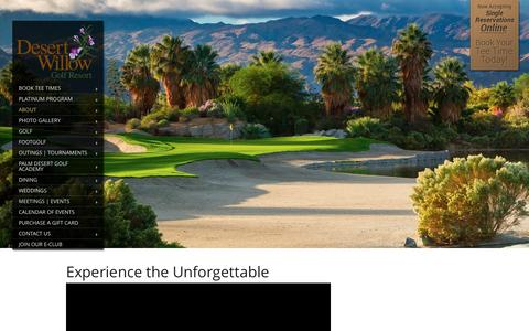 Screenshot of About Page desertwillow.com - Palm Springs Golf Course | Golf Palm Springs | Desert Willow - captured Feb. 9, 2016