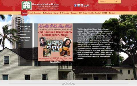 Screenshot of Home Page missionhouses.org - Home - captured Oct. 7, 2014