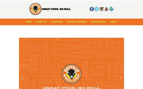 Screenshot of Menu Page buffalowingsandrings.jo - Menu –  Buffalo Wings and Rings - captured Oct. 5, 2014