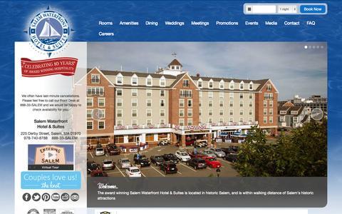 Screenshot of Home Page salemwaterfronthotel.com - Salem Waterfront Hotel & Suites :: Home - captured Sept. 16, 2015