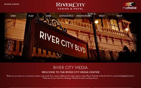 Screenshot of Press Page rivercity.com - Media|River City Casino|St. Louis Missouri - captured Dec. 11, 2016