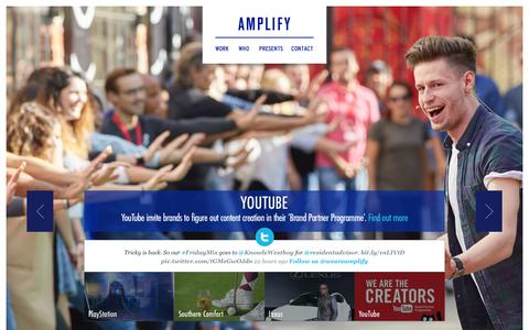 Screenshot of Home Page weareamplify.com - Amplify | A Marketing Agency - captured Feb. 6, 2016
