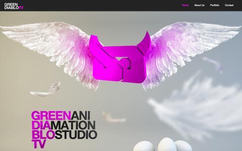 Screenshot of Home Page greendiablo.tv - Green Diablo TV - captured Sept. 30, 2014