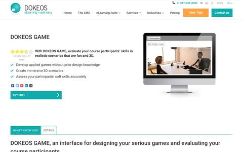 DOKEOS GAME, build serious games online