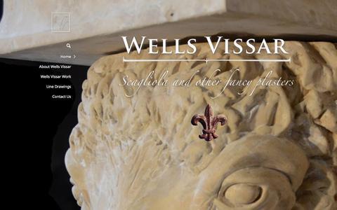 Screenshot of Home Page scagliola.com - Wells Vissar | Scagliola - captured Oct. 9, 2014