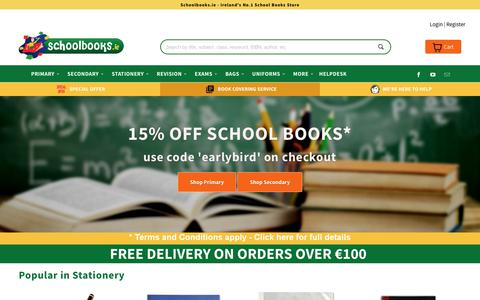 Screenshot of Home Page schoolbooks.ie - Schoolbooks.ie - No.1 for School Books - captured July 6, 2017