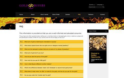 Screenshot of FAQ Page goldbuyers.com - FAQ - Gold Buyers International - captured Oct. 2, 2014