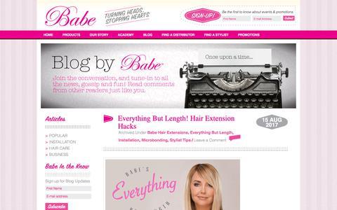 Screenshot of Blog babethings.com - Babe Things Hair Extension Blog - captured Aug. 16, 2017