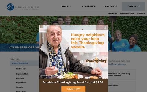 Screenshot of Signup Page cctwincities.org - Volunteer Opportunities - Catholic Charities of St. Paul and Minneapolis - captured Nov. 10, 2018