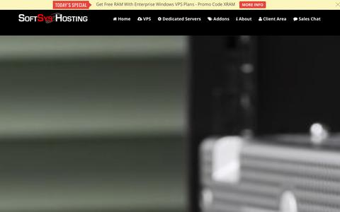 Screenshot of Home Page softsyshosting.com - Windows Hosting | VPS | Cloud | Dedicated Servers - Softsys Hosting - captured Jan. 11, 2016