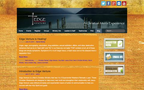 Screenshot of Blog edgeventure.org - Men's Christian Blog - Edge Venture / A Men's Ministry - captured Oct. 2, 2014