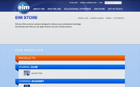 Screenshot of Products Page evidenceinmotion.com - EIM Store » Evidence in Motion - captured Oct. 3, 2014