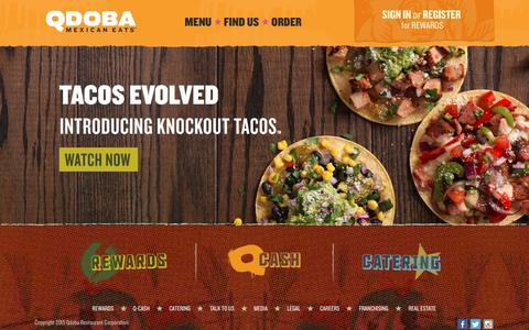 Screenshot of Home Page qdoba.com - Qdoba Mexican Grill | Your Mexican Food Restaurant - captured Jan. 16, 2016