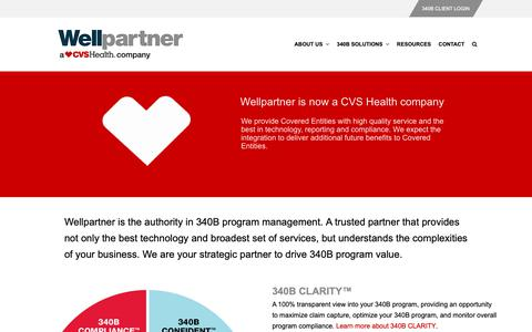 Screenshot of Home Page wellpartner.com - Wellpartner | Your partner in optimizing 340B program value. - captured Oct. 18, 2018