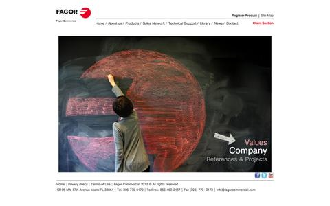 Screenshot of About Page fagorcommercial.com - Fagor Commercial -  About Us - captured Sept. 30, 2014