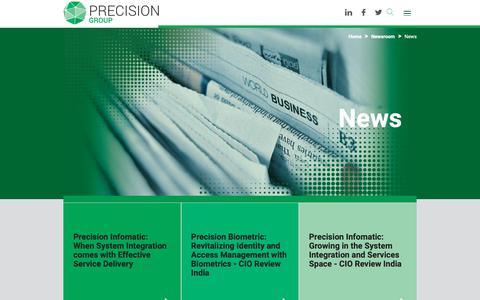Screenshot of Press Page precisionit.co.in - News | Precision - captured Sept. 29, 2018