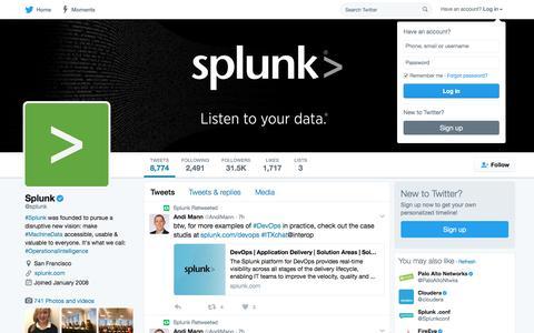 Splunk (@splunk) | Twitter
