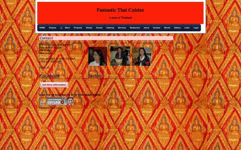 Screenshot of Contact Page fantastic-thai.com - Contact Fantastic Thai Cuisine - captured Oct. 8, 2014