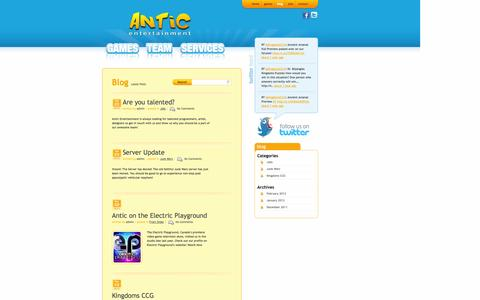 Screenshot of Blog anticentertainment.com - Blog | Antic Entertainment - captured Sept. 30, 2014