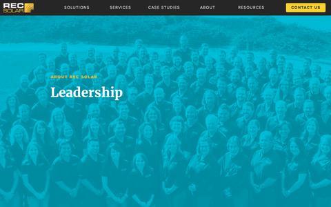 Screenshot of Team Page recsolar.com - Leadership | Commercial Solar - captured Aug. 3, 2017
