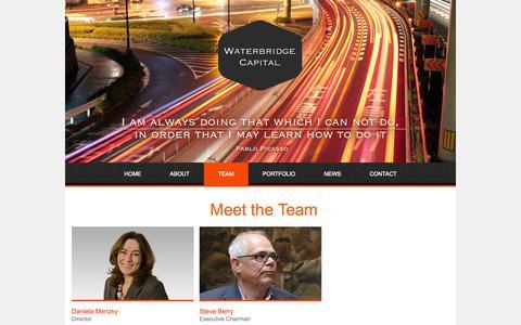 Screenshot of Team Page waterbridgecapital.com - Team   Waterbridge Captital - captured Oct. 9, 2014