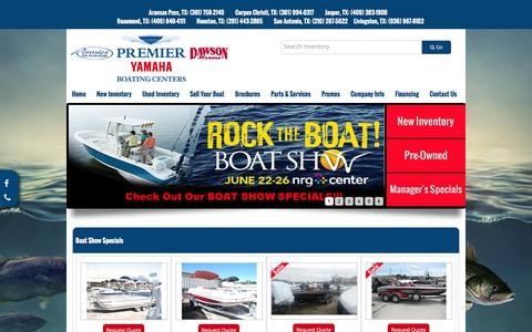 Screenshot of Home Page premier-yamaha.com - Home Premier Yamaha Boating Centers - captured June 16, 2016