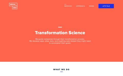 Screenshot of Services Page tektonlabs.com - Tekton Labs - captured Nov. 7, 2018