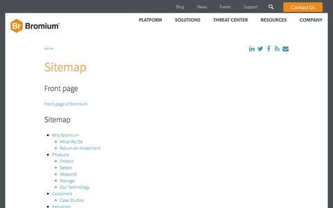 Screenshot of Site Map Page bromium.com - Sitemap   Bromium - captured Feb. 1, 2017