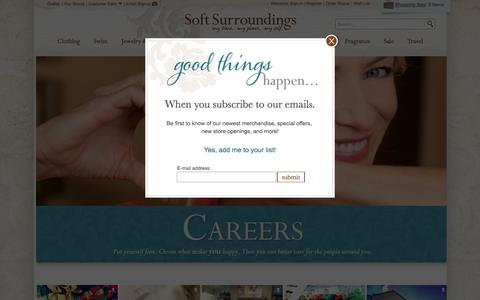 Screenshot of Jobs Page softsurroundings.com - Womens Clothes | Jewelry, Bedding & More | Soft Surroundings - captured March 5, 2018