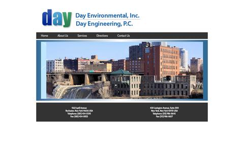 Screenshot of Home Page dayenvironmental.com - Day Environmental, Inc. and Day Engineering, P.C. - captured Oct. 5, 2014